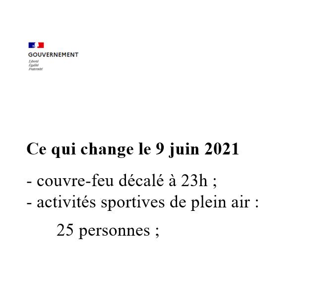 Ce qui change le 09/06/2021