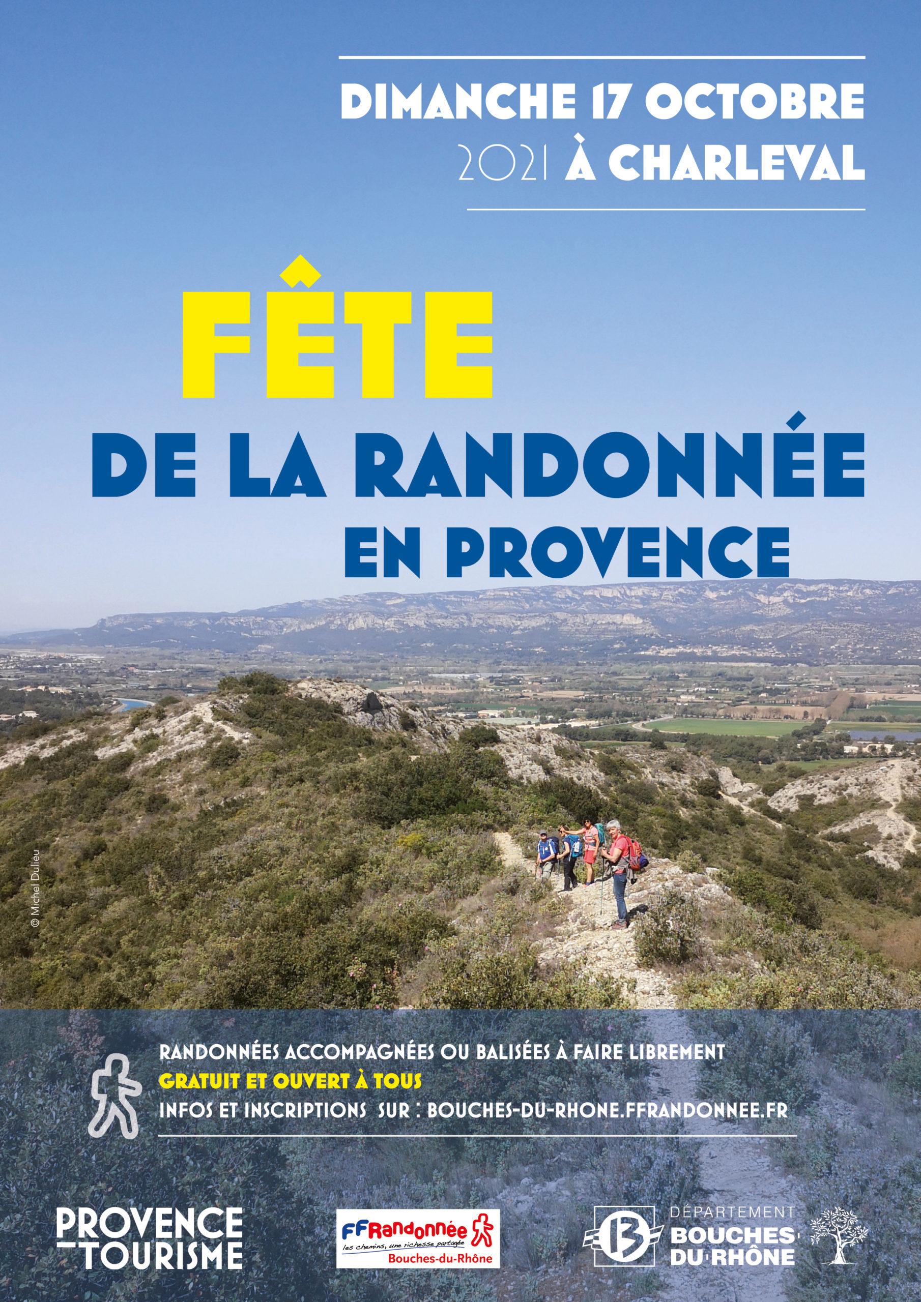 FETE DE LA RANDONEE LE 17 OCTOBRE A CHARLEVAL